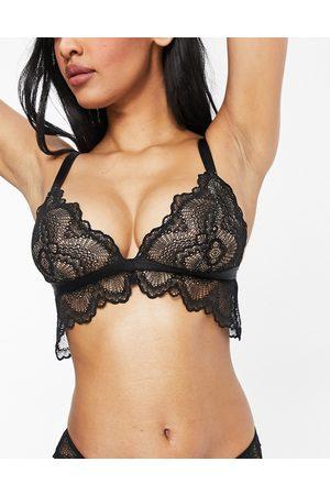 ASOS Fuller Bust Rosie lace longline bra in white