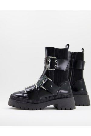 ASOS Legit loafer ballet flats in black
