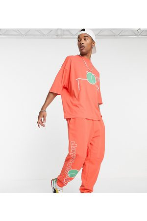 ASOS ASOS Daysocial co-ord oversized t-shirt with multi abstract shape print in