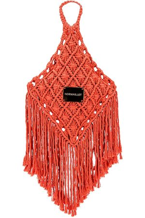 Normaillot Macrame Bag in - Coral. Size all.