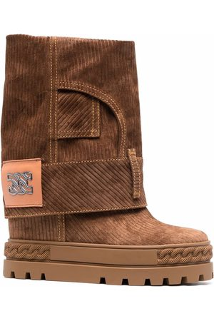 Casadei C-Chain corduroy ankle boots