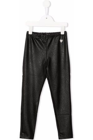 Monnalisa High-waisted faux leather leggings