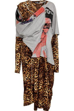 JUNYA WATANABE Kleid im Lagenlook mit Leo-Print