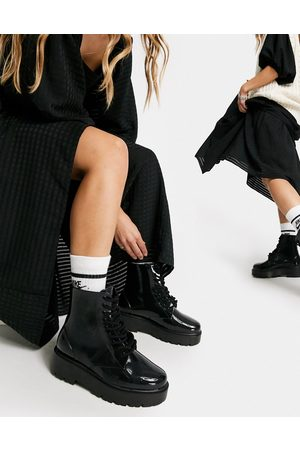 ASOS Generate lace up wellie boots in
