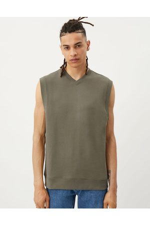 Weekday Karl jersey vest in grey