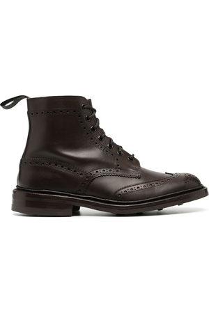 Tricker's Herren Stiefel - Burnished brogue-detail boots