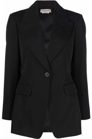 Alexander McQueen Damen Blazer & Sakkos - Rear-tie single-breasted blazer
