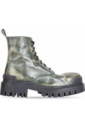 Balenciaga Herren Stiefel - Strike leather ankle boots