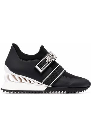 Le Silla Gem-embellished heeled trainers