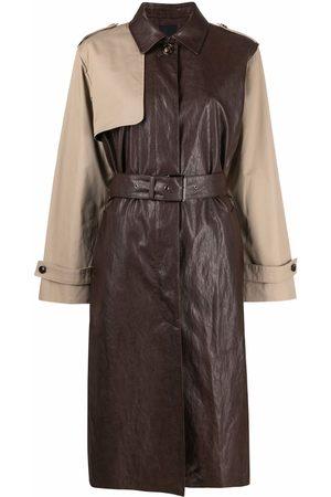 Pinko Two-tone trench coat