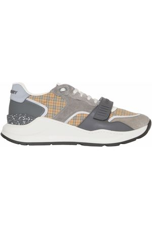 Burberry Panelled check sneakers