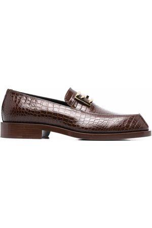 Fendi FF Baguette-motif loafers