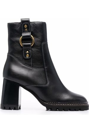 See by Chloé Leather ankle boots