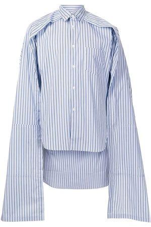 Comme Des Garçons Shirt Herren Ponchos & Capes - Cape-trim long-sleeved shirt