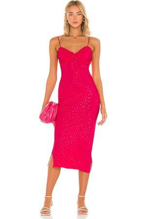 MAJORELLE Sharona Midi Dress in - . Size L (also in XXS, XS, S, M, XL).
