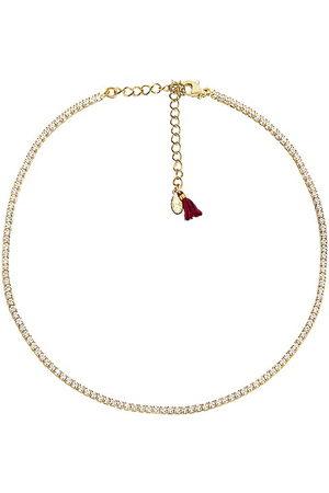 Shashi Diamond Tennis Necklace in - Metallic . Size all.