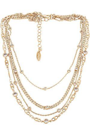 Ettika Layered Necklace in - Metallic . Size all.
