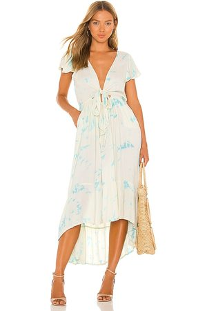 TIARE HAWAII Blake Maxi Dress in - Blue. Size M/L (also in S/M).