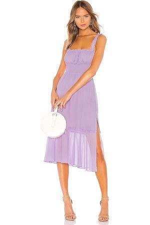 Lovers + Friends Arden Midi Dress in - Lavender. Size M (also in S).