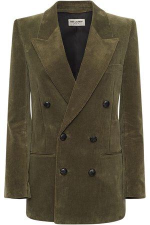 SAINT LAURENT Blazer Aus Baumwolle