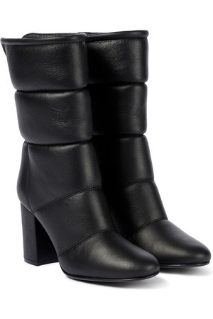 Gianvito Rossi Ankle Boots Husky 85 aus Leder
