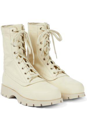 Jil Sander Damen Stiefeletten - Ankle Boots aus Leder