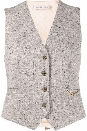 Tory Burch Tweed horse-bit waistcoat