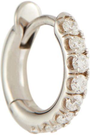 SPINELLI KILCOLLIN Ohrring Mini Micro Hoop Pavé aus 18kt Weißgold mit Diamanten