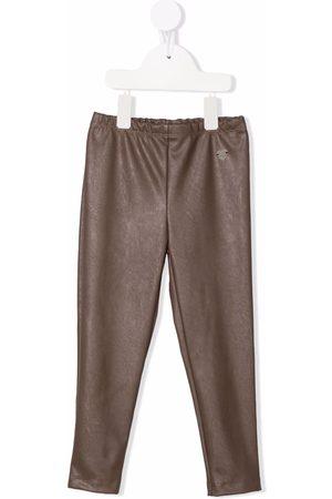 Monnalisa Mädchen Leggings & Treggings - Faux-leather slip-on leggings