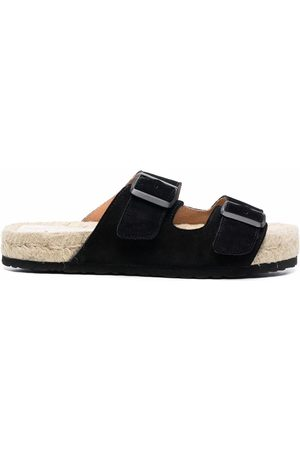MANEBI Damen Clogs & Pantoletten - Hamptons double-strap suede slides