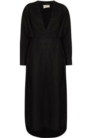 DES SEN Damen Lange Kleider - Lazio belted-waist long dress