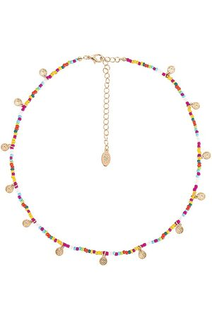 8 Other Reasons Bead String Necklace With Gold Daisy in . Size all.
