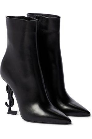 Saint Laurent Ankle Boots Opyum aus Leder