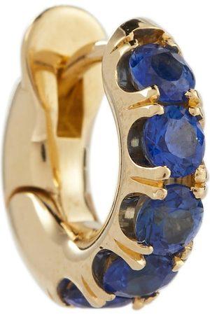 SPINELLI KILCOLLIN Exklusiv bei Mytheresa – Einzelner Ohrring Mini Macro Hoop aus 18kt Gelbgold mit Saphiren