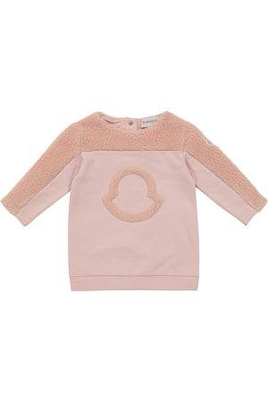 Moncler Baby Sweatshirt-Kleid aus Baumwolle