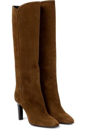 Saint Laurent Stiefel Jane 90 aus Veloursleder