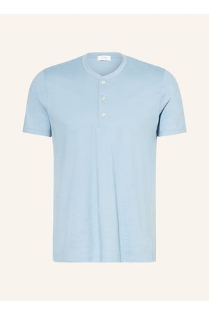 mey Herren Lange Ärmel - Lounge-Shirt Serie Ringwood blau