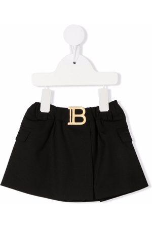 Balmain Kids Baby Röcke - Logo plaque skirt