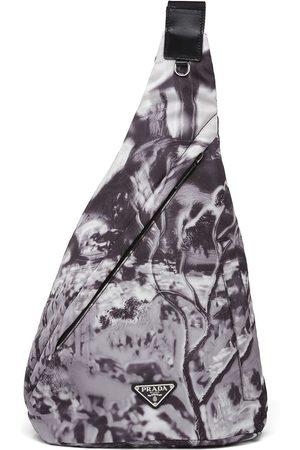 Prada Re-Nylon abstract-print shoulder bag