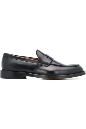 Doucal's Leather penny loafers
