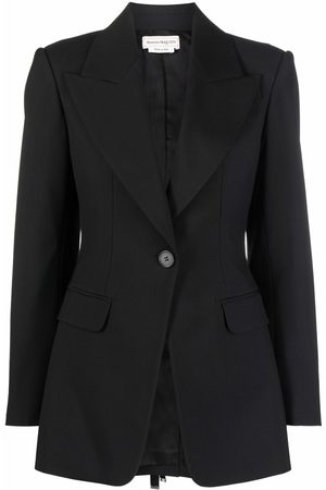 Alexander McQueen Lace-up single-breasted blazer