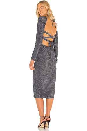 Suboo Celeste Cut Out Midi Dress in - Navy. Size L (also in M, S, XS).