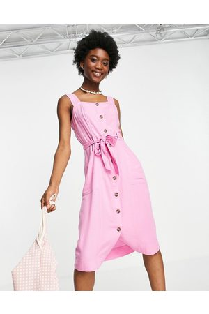 AMERICAN EAGLE Utility style midi dress in pink