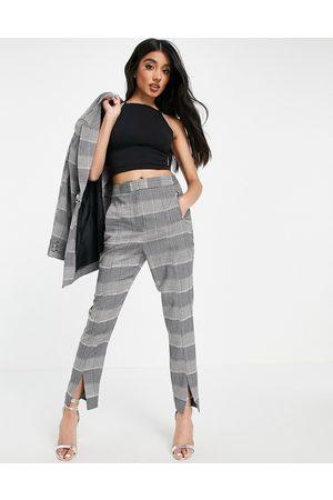 ASOS DESIGN Damen Hosen & Jeans - Premium suit trousers in check-Multi