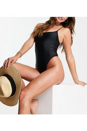 South Beach Cheeky thong swimsuit in black