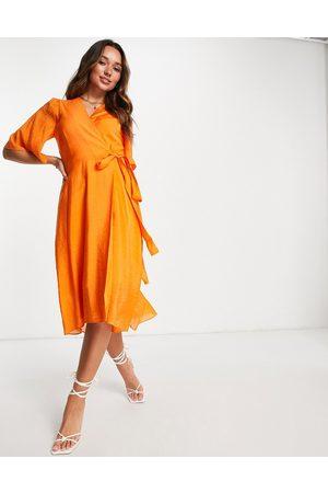 In Wear Damen Freizeitkleider - Hazini wrap front midi dress in