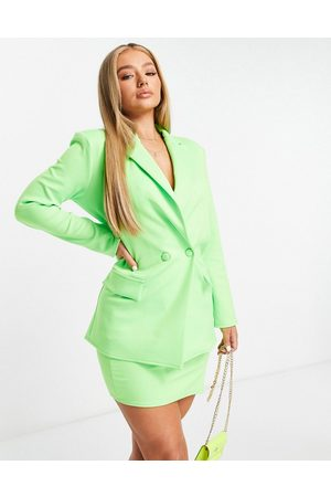 ASOS DESIGN Structured jersey suit blazer in lime-Green