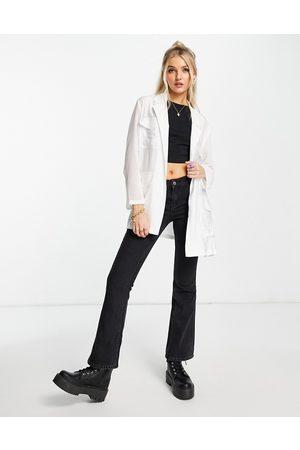 French Connection Damen Blazer & Sakkos - Lightweight tie waist jacket co-ord in white