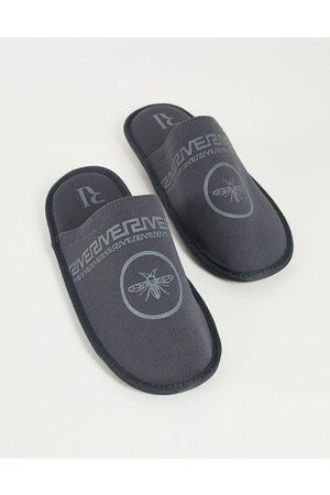 River Island Herren Halbschuhe - Mule slippers in grey