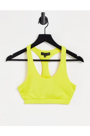 Love & Other Things Gym co-ord sports bra in lemon-Yellow